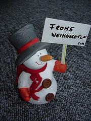 Schnemann wünscht Frohe Weihnachten